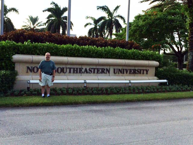 Jeff in front of NSU